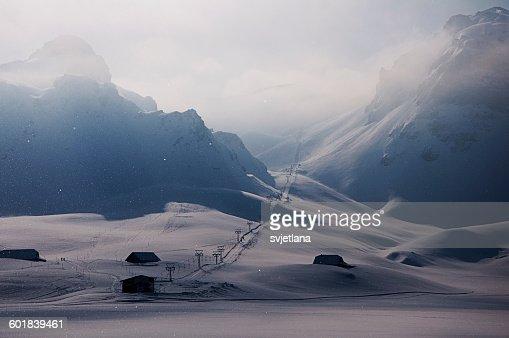 Ski lifts, Melchsee, Obwalden, Switzerland