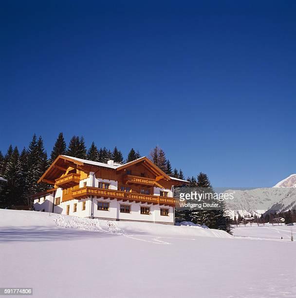 Ski Lodge on Mountain