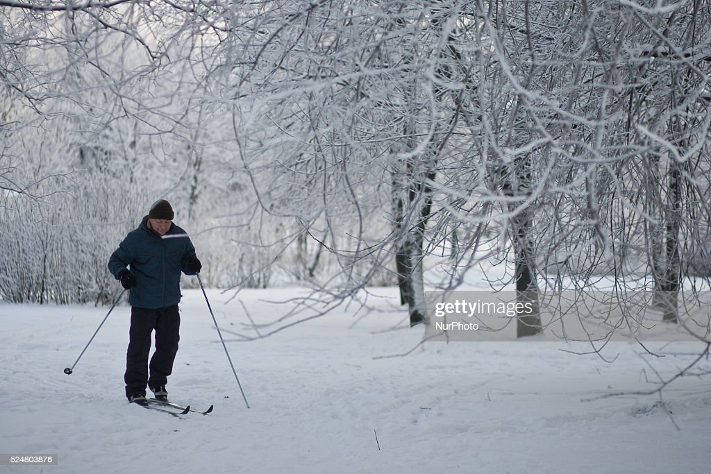 Weather in st petersburg russia pictures getty images ski man in pulkovsky park during heavy frost in st petersburg russia on 17th january publicscrutiny Gallery