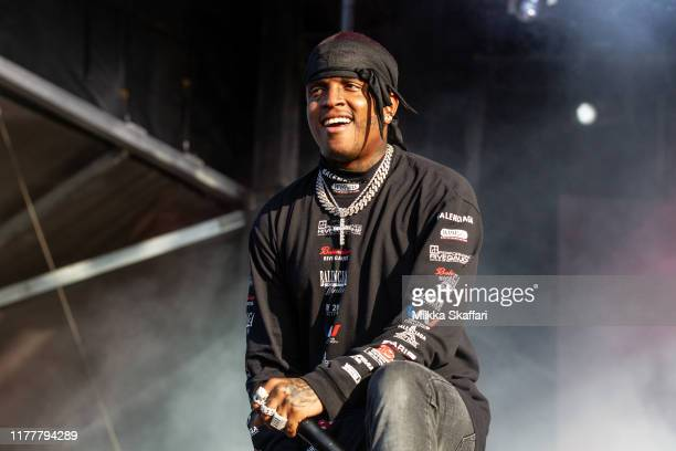 Ski Mask the Slump God performs at Rolling Loud festival at Oakland-Alameda County Coliseum on September 28, 2019 in Oakland, California.