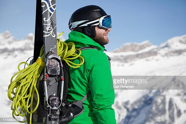 Ski mountaineer in the mountains