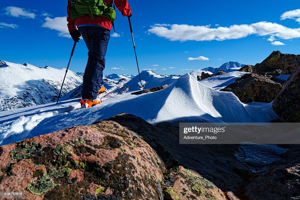 Ski Mountaineering the Sawatch Mountains : Stock Photo