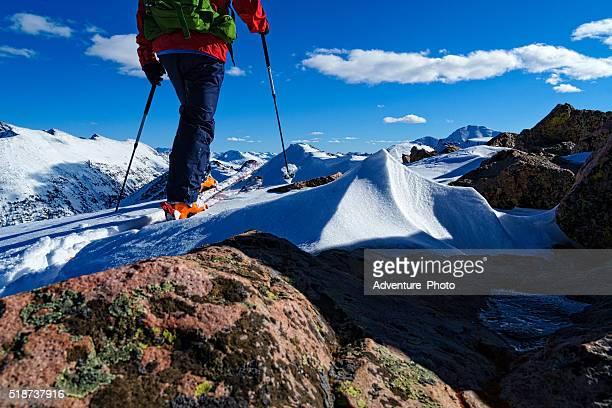 ski mountaineering the sawatch mountains - grouse mountain stock photos and pictures