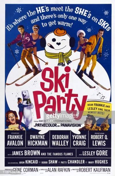 Ski Party poster US poster top from left Frankie Avalon Deborah Walley Yvonne Craig Dwayne Hickman Lesley Gore Robert Q Lewis 1965
