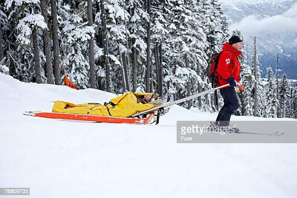 Ski Patrol Transporting Injured Person
