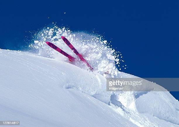 ski - chute ski photos et images de collection