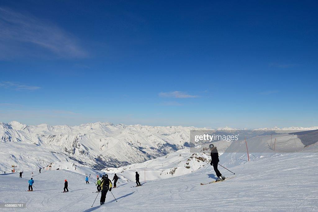 Pista de esqui : Foto de stock