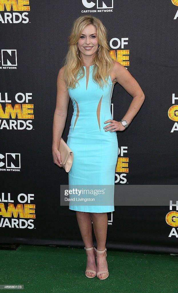 Ski racer Lindsey Vonn attends Cartoon Network's Hall of Game Awards at Barker Hangar on February 15, 2014 in Santa Monica, California.