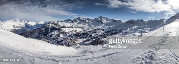 Ski Resort and Mountain Panorama