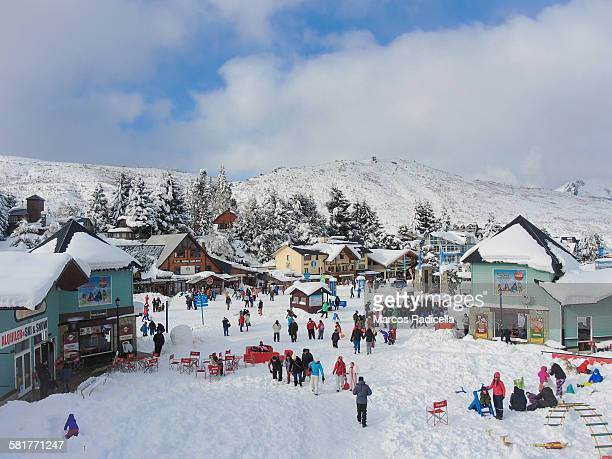 ski resort in bariloche, patagonia  argentina - radicella stock pictures, royalty-free photos & images