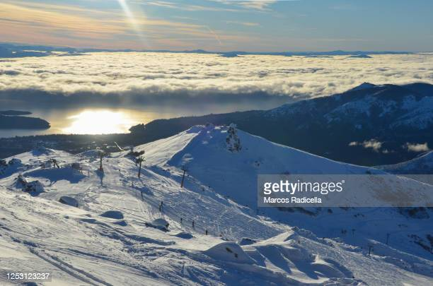 ski resort in bariloche - radicella stock pictures, royalty-free photos & images