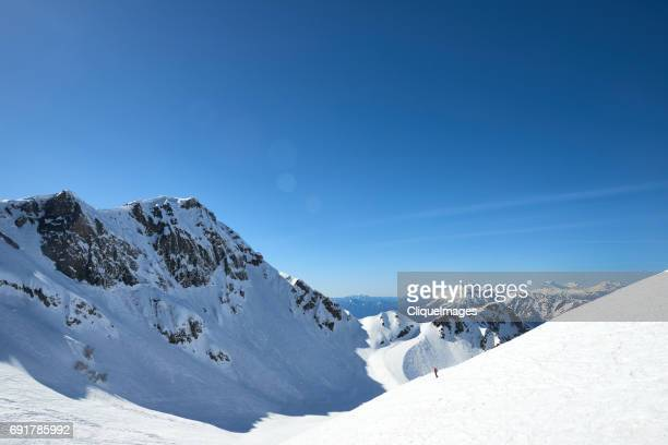 ski resort in caucasus mountains - cliqueimages - fotografias e filmes do acervo
