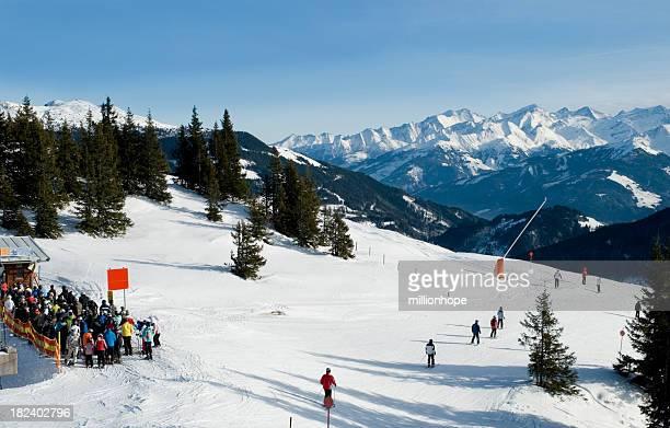 ski resort in kitzbuhel - kitzbühel stock pictures, royalty-free photos & images