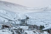 A ski resort in the highlands