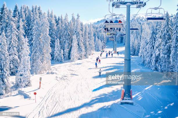 ski resort kopaonik, serbia. - ski lift stock pictures, royalty-free photos & images