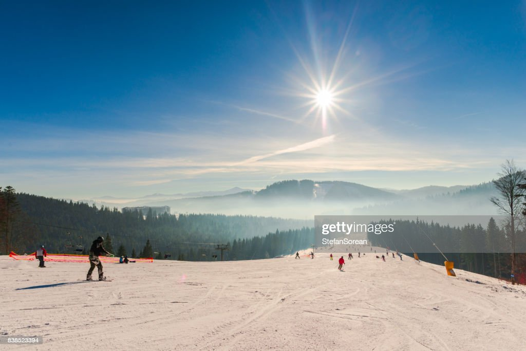 スキーリゾート : ストックフォト