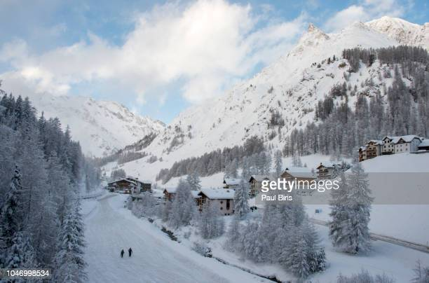 Ski resort town Samnaun, Silvretta Arena, Austria/Switzerland