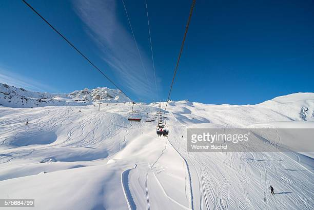 Ski ressort in the Swiss Alps