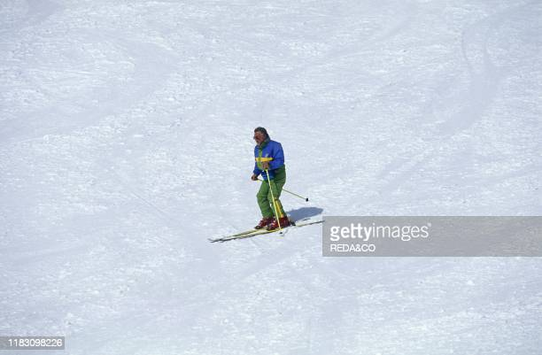 Ski run. Courmayeur. Valle d'Aosta. Italy.