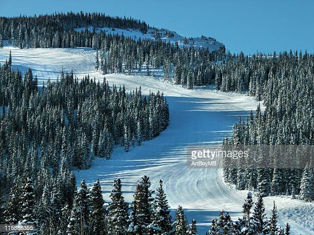 ski run - aspen colorado stock photos and pictures