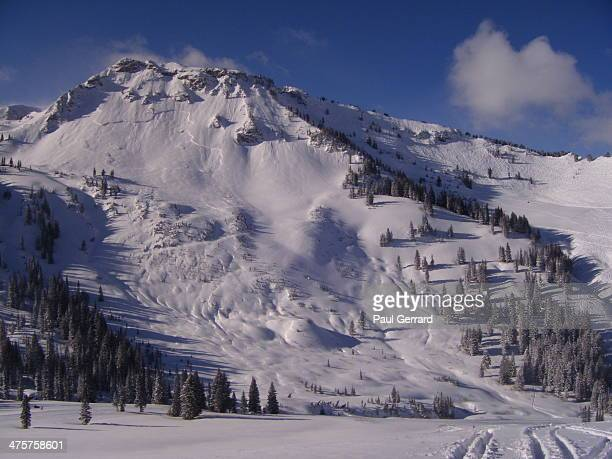Ski runs on this mountain closed due to avalanche risk