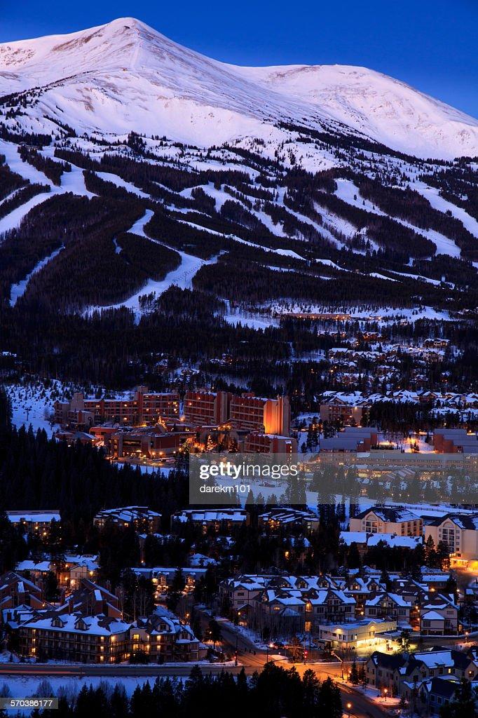 Ski slopes, Breckenridge, Colorado, USA : Stock Photo