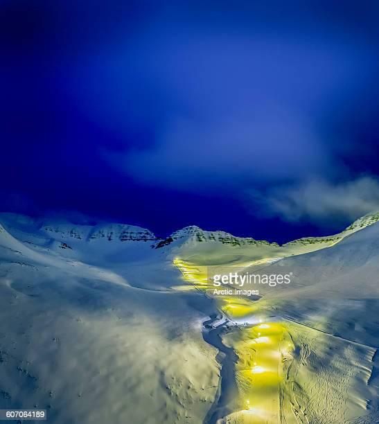 Ski slopes in northern Iceland