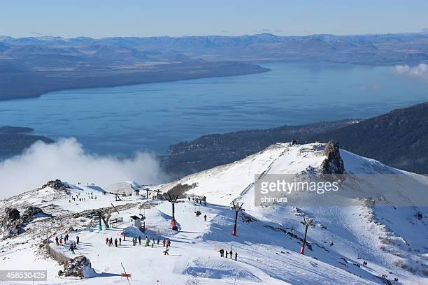 estação de esqui cerro catedral e gutierrez lake-patagônia - catedral - fotografias e filmes do acervo