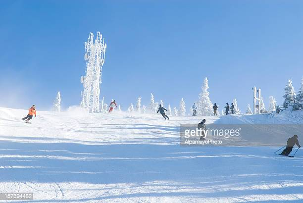 ski time - x - mont tremblant stock pictures, royalty-free photos & images