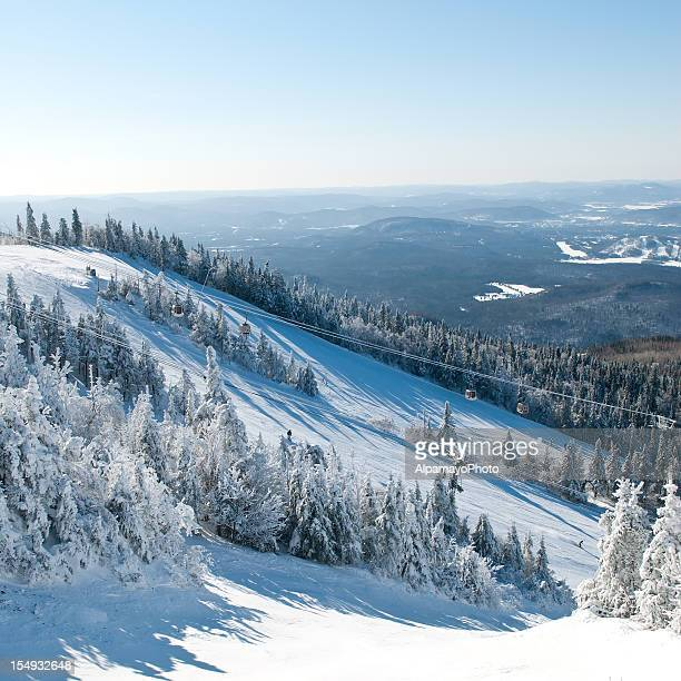 ski trails - mont tremblant stock pictures, royalty-free photos & images