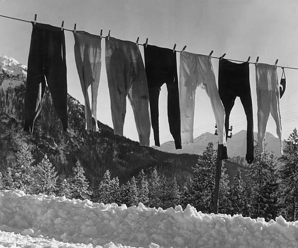 Ski underpants belonging to the seven British girl...