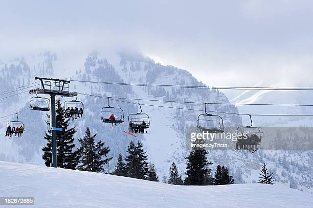 ski vacation - utah stock pictures, royalty-free photos & images