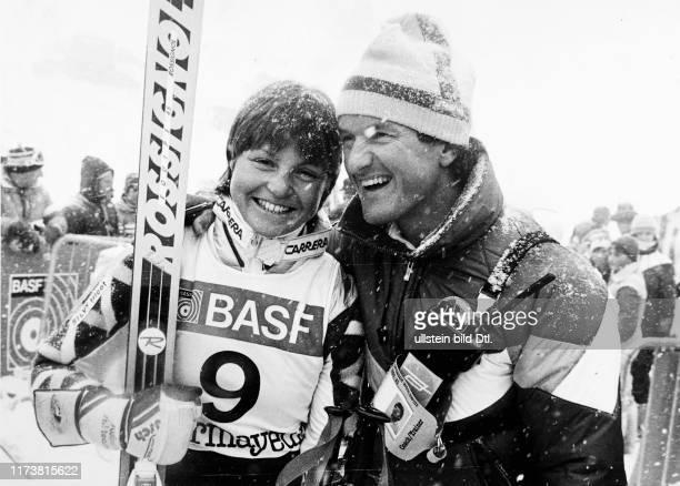 Ski World Cup 1984/85: Erika Hess with her boyfriend Jacques Reymond