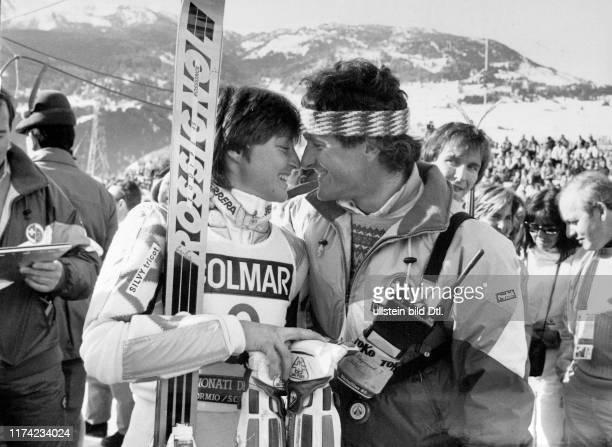 Ski World Cup 1985/86: Erika Hess with her boyfriend Jacques Reymond