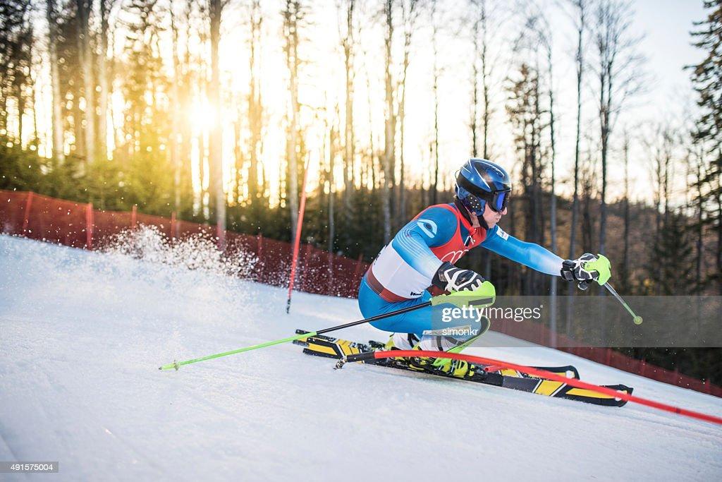 Ski world cup : Stock Photo