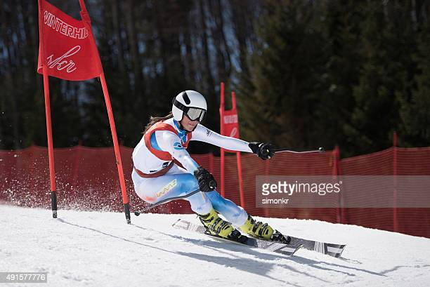 ski world cup - female skier stock pictures, royalty-free photos & images