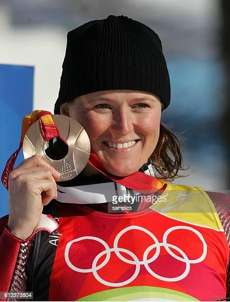 Skialpin Super G Damen Bronze fr Alexandra Meissnitzer AUT olympische Winterspiele in Turin 2006 olympic winter games in torino 2006