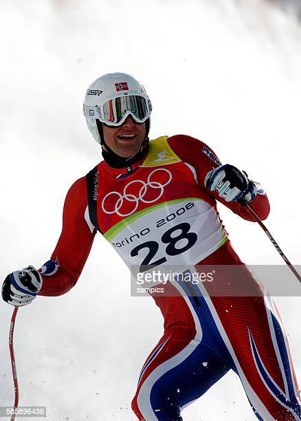 Super G Herren men Aksel Lund Svindal NOR olympische Winterspiele in Turin 2006 olympic winter games in torino 2006