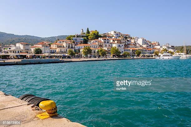 Skiathos town from harbor