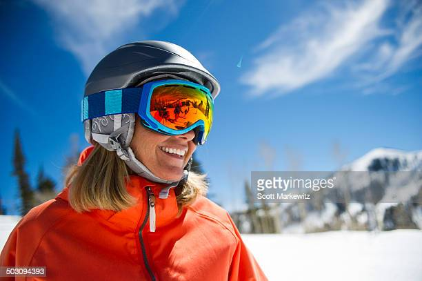 Skier enjoys the Park City mountains in Utah