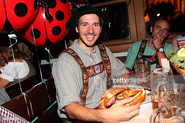 Skier Felix Neureuther during Oktoberfest at Kaeferzelt/Theresienwiese on October 2 2014 in Munich Germany