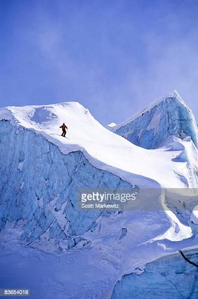 Skier in Diavolezza, Switzerland