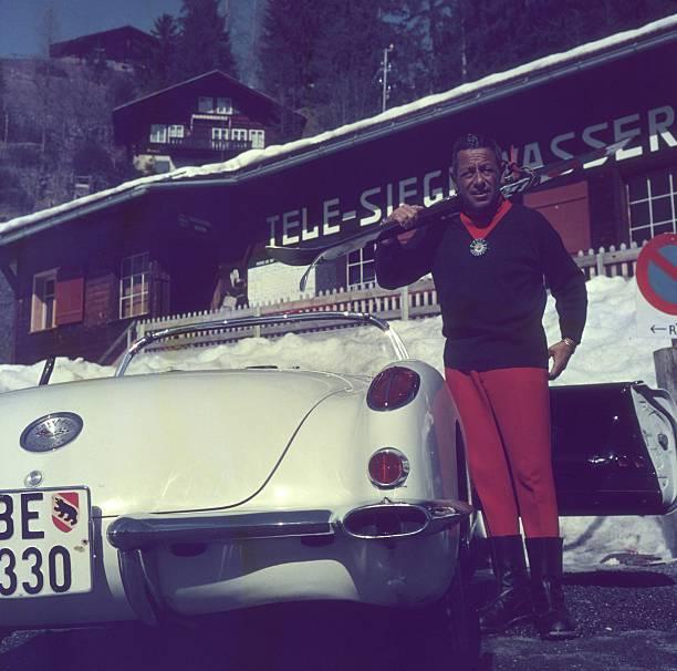 Gstaad Skier Wall Art