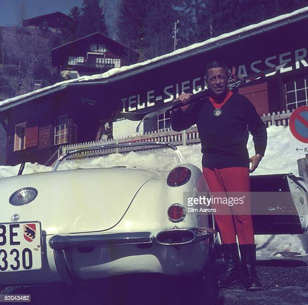 A skier in Gstaad 1961