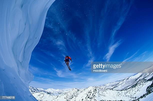 Skier in Mid-Air