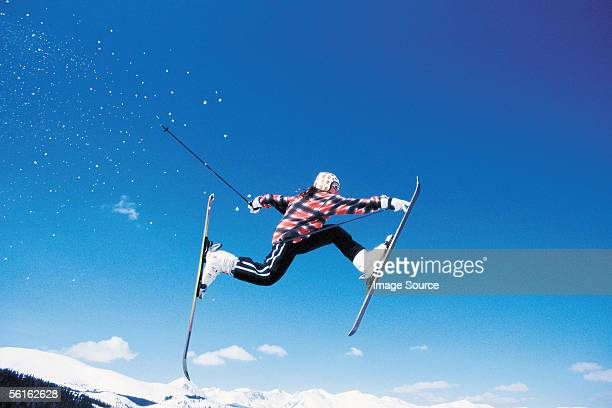 Skier in the air