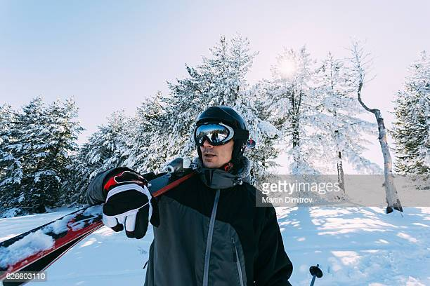 Skier in the mountain