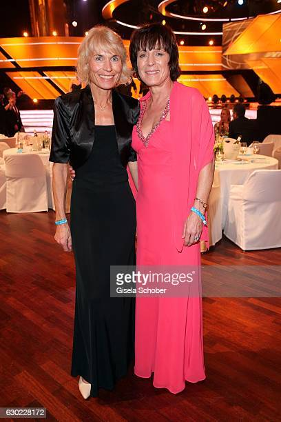Skier Irene EppleWaigel and her sister Maria Epple during the 'Sportler des Jahres 2016' Gala at Kurhaus on December 18 2016 in BadenBaden Germany