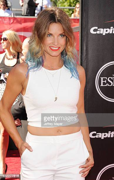 Skier Julia Mancuso arrives at the 2014 ESPY Awards at Nokia Theatre LA Live on July 16 2014 in Los Angeles California