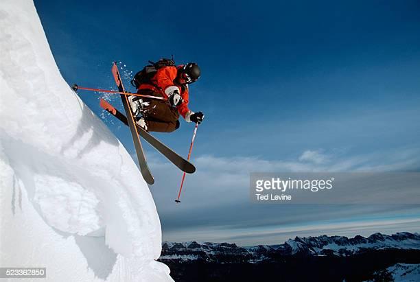 Skier Jumping, Lenzerheide, Graubunden Canton, Switzerland, Europe